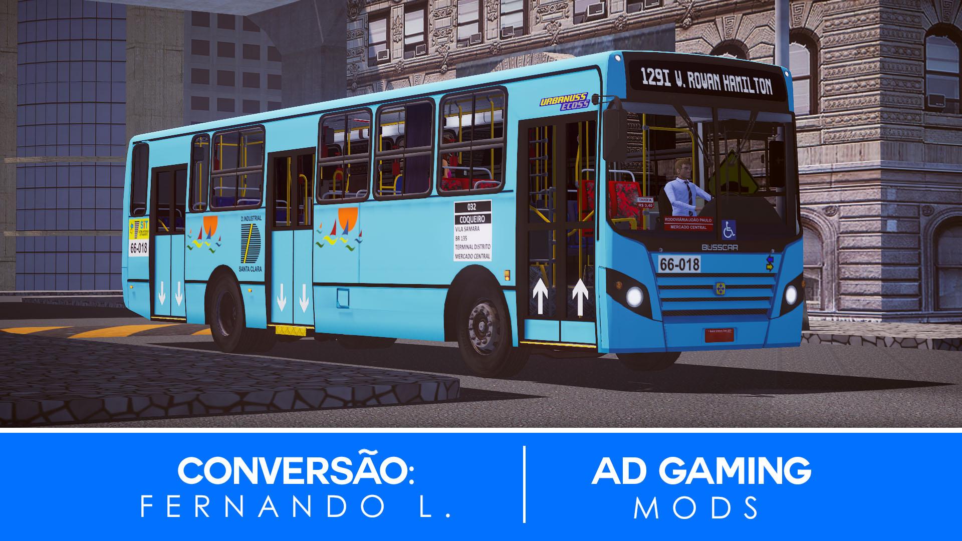 Mod do Busscar Urbanuss Ecoss OF-1722M (São Luiz-MA) para Proton Bus Simulator