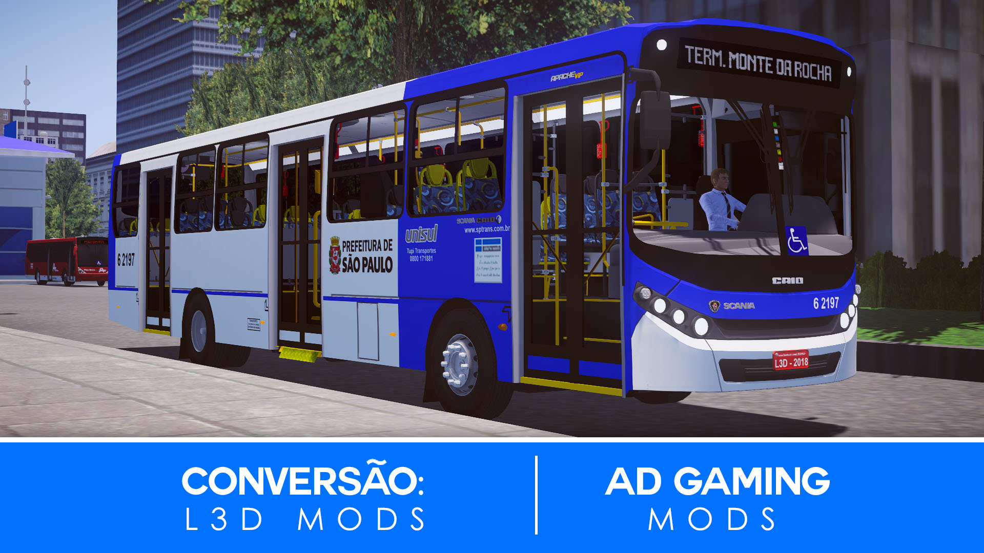 Mod do Caio Apache Vip III Scania F250 HB para Proton Bus Simulator