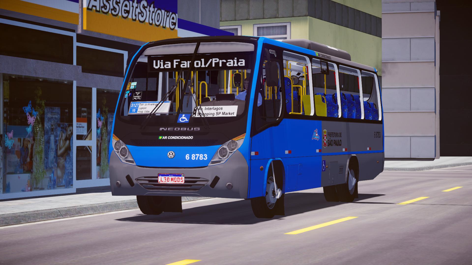 Mod do Neobus Thunder+ 2016 VW 9-160 (Padrão SP) para Proton Bus Simulator