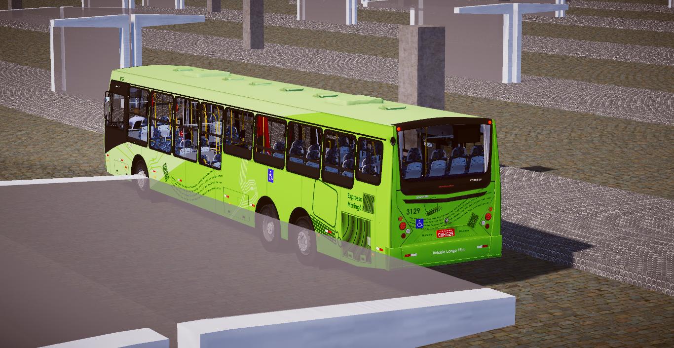 Mod de Mapa Ouro Branco V2.0 para o Proton Bus Simulator