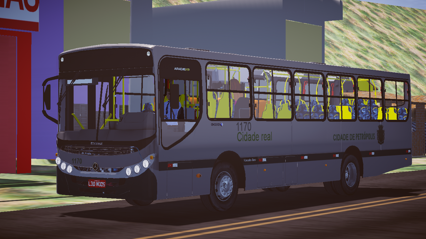 Mod do Caio Apache VIP II MB OF-1519 BlueTec 5 FASE 2 para o Proton Bus Simulator