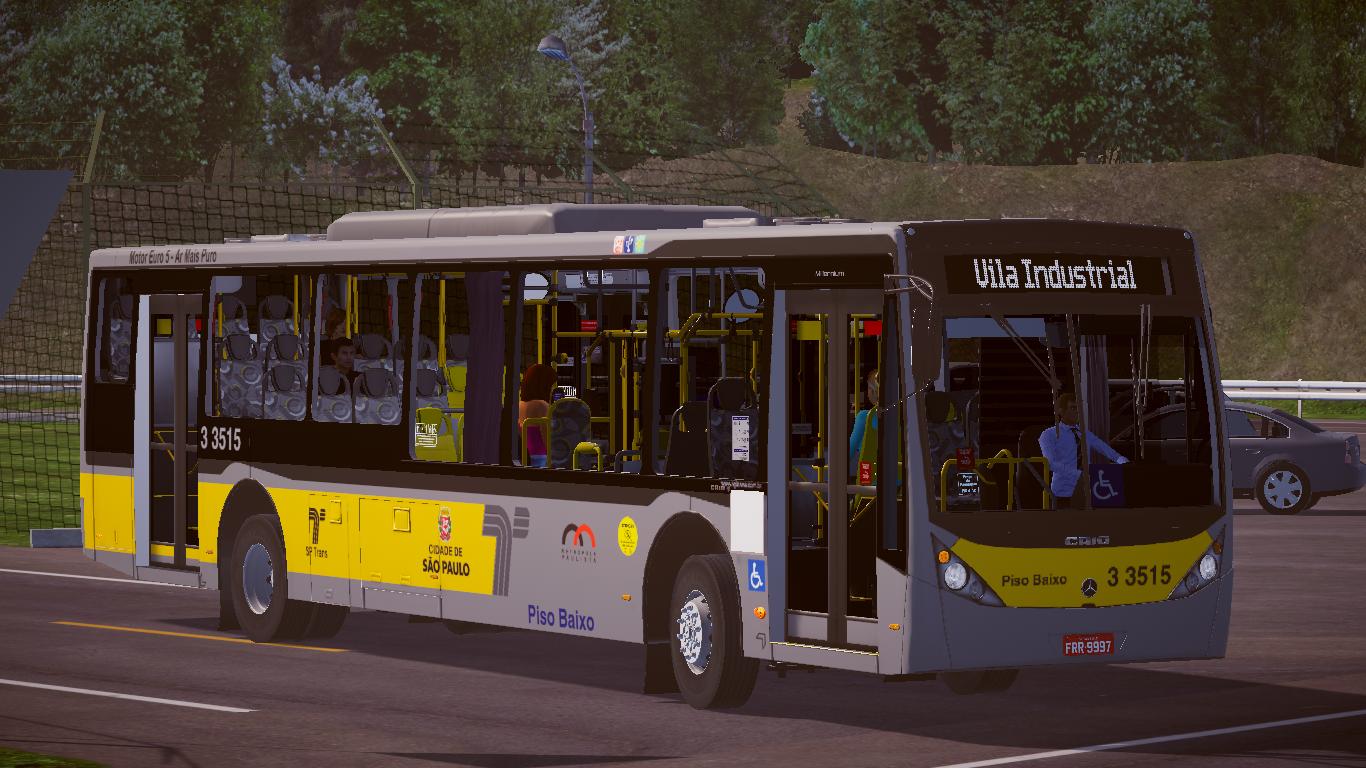 Mod do Caio Millennium III O-500U BlueTec 5 Padrão SP Fase 2 para o Proton Bus Simulator