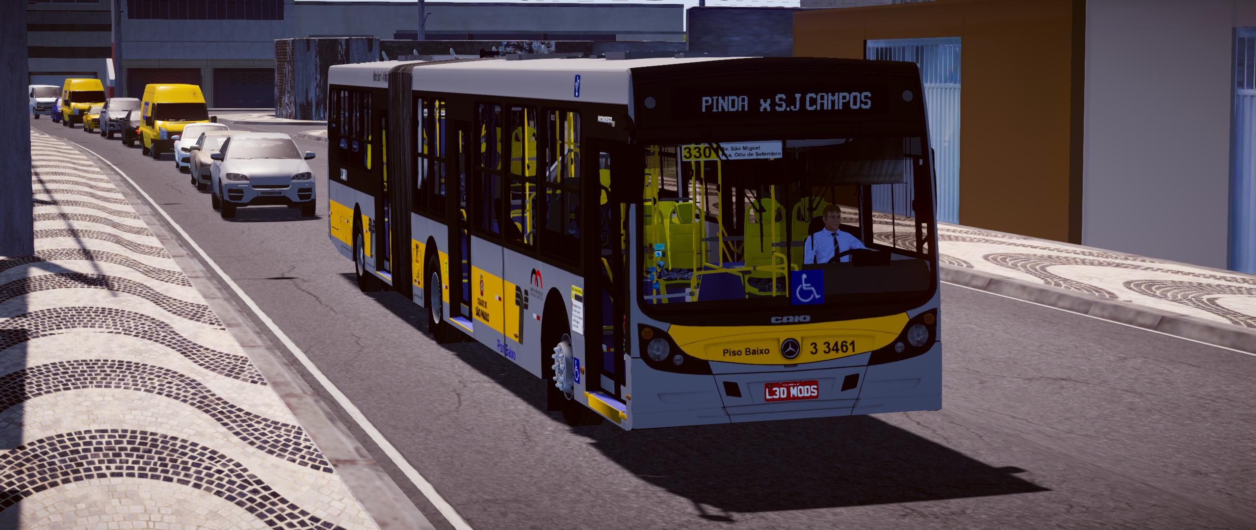 Mod do Caio Mondego HA 2014 Mercedes-Benz O500UA BlueTec5 para Proton Bus Simulator