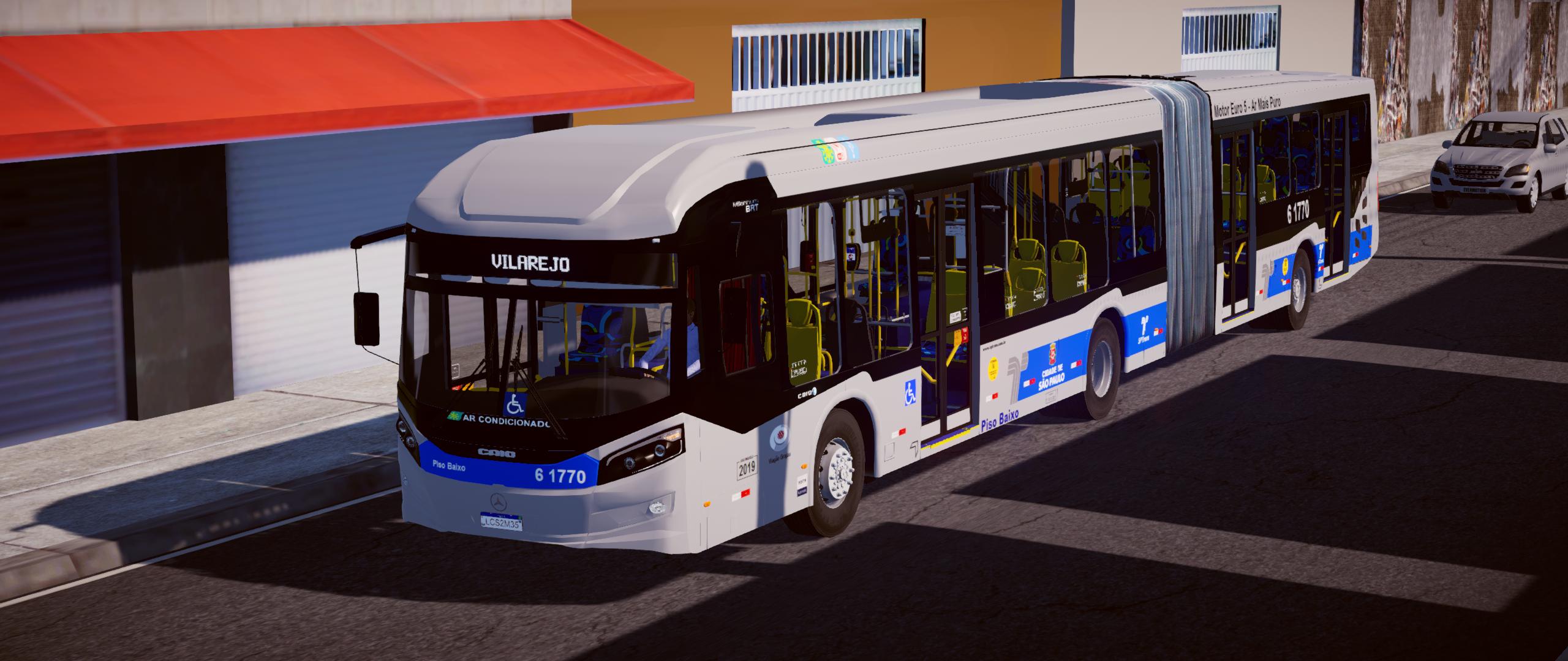 Mod do Caio Millennium BRT 2017 MB 0500UA BlueTec 5 – Padrão São Paulo para Proton Bus Simulator