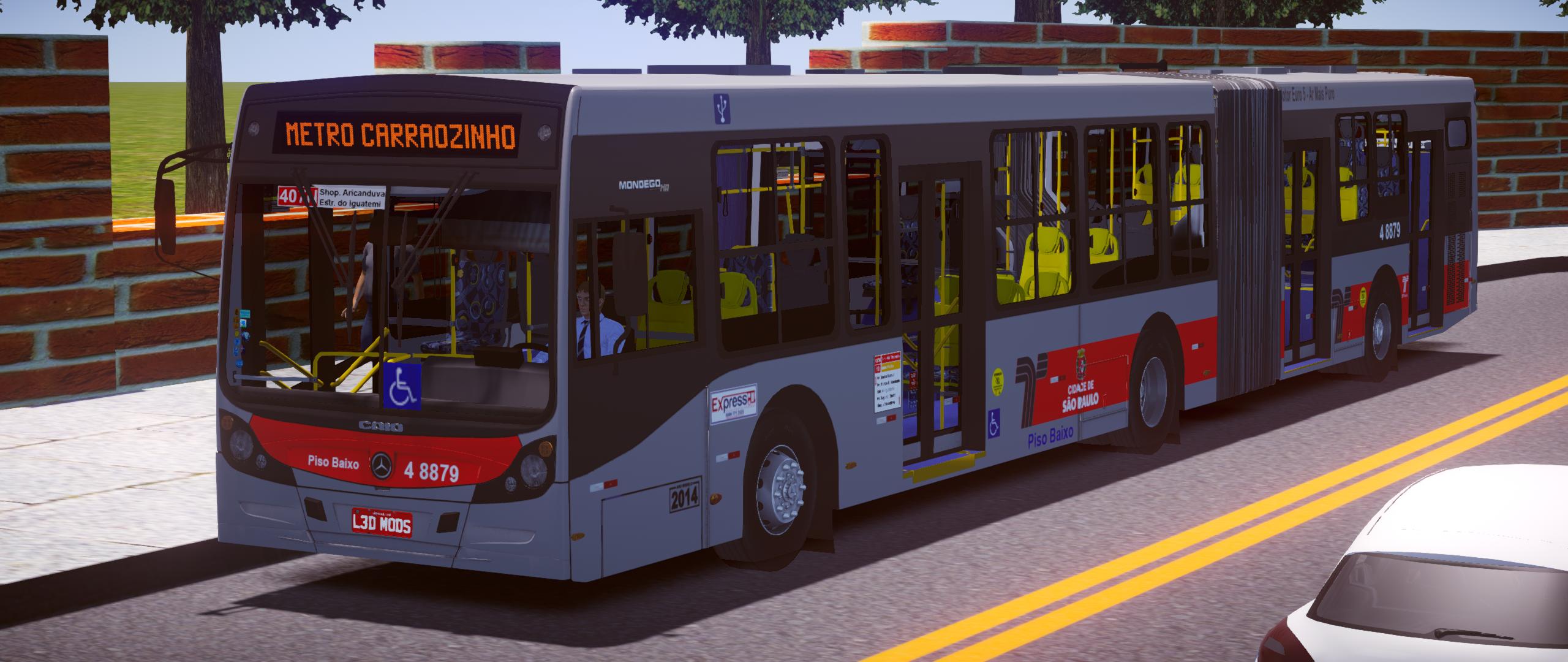 Caio Mondego HA 2014 MB O500UA BlueTec 5 – Padrão SP (Fase 2) para Proton Bus Simulator