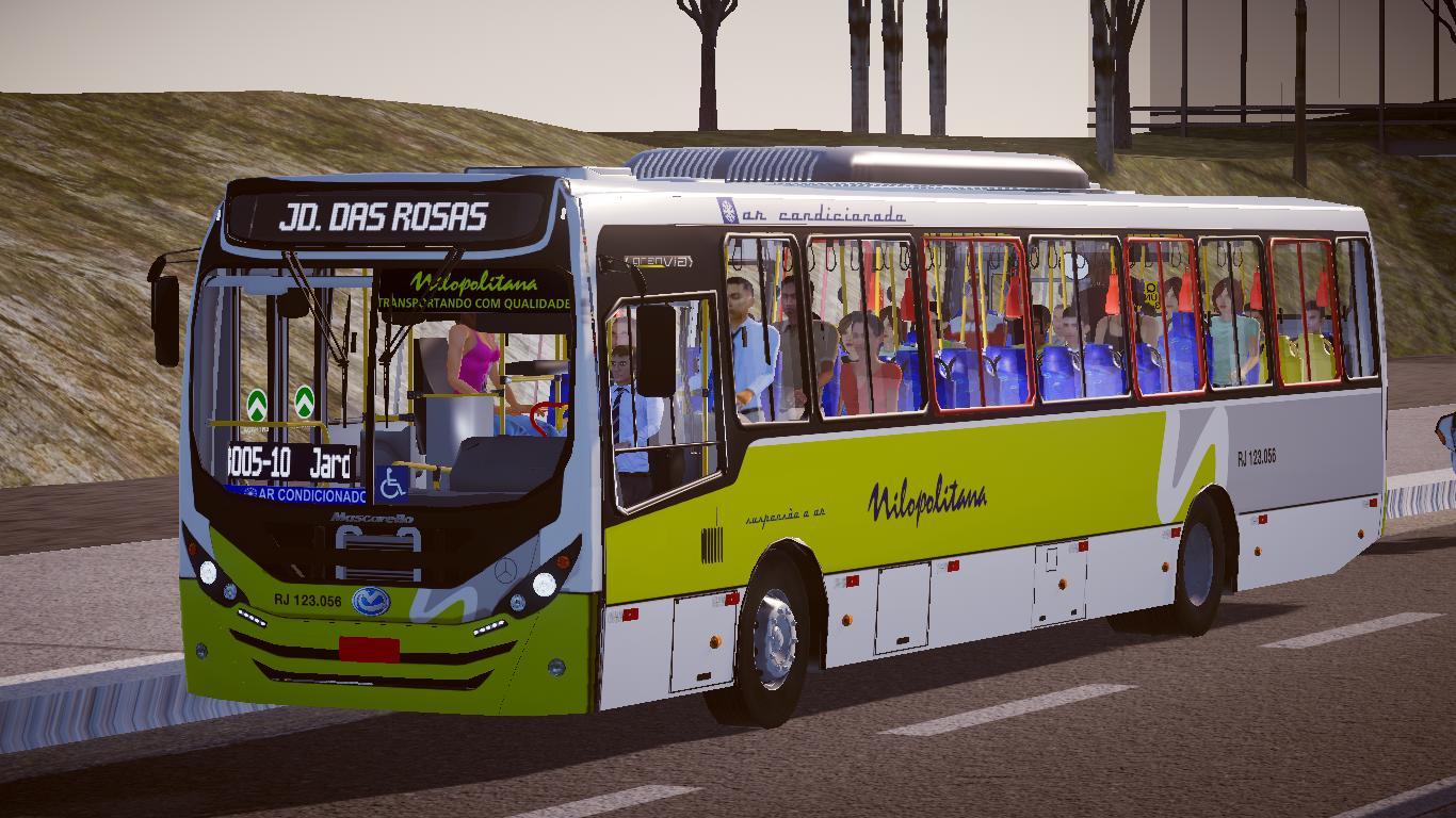 Mod do Mascarello Gran Via 2014 OF-1721L BlueTec 5 Padrão Nilopolitana Fase 2 para o Proton Bus Simulator