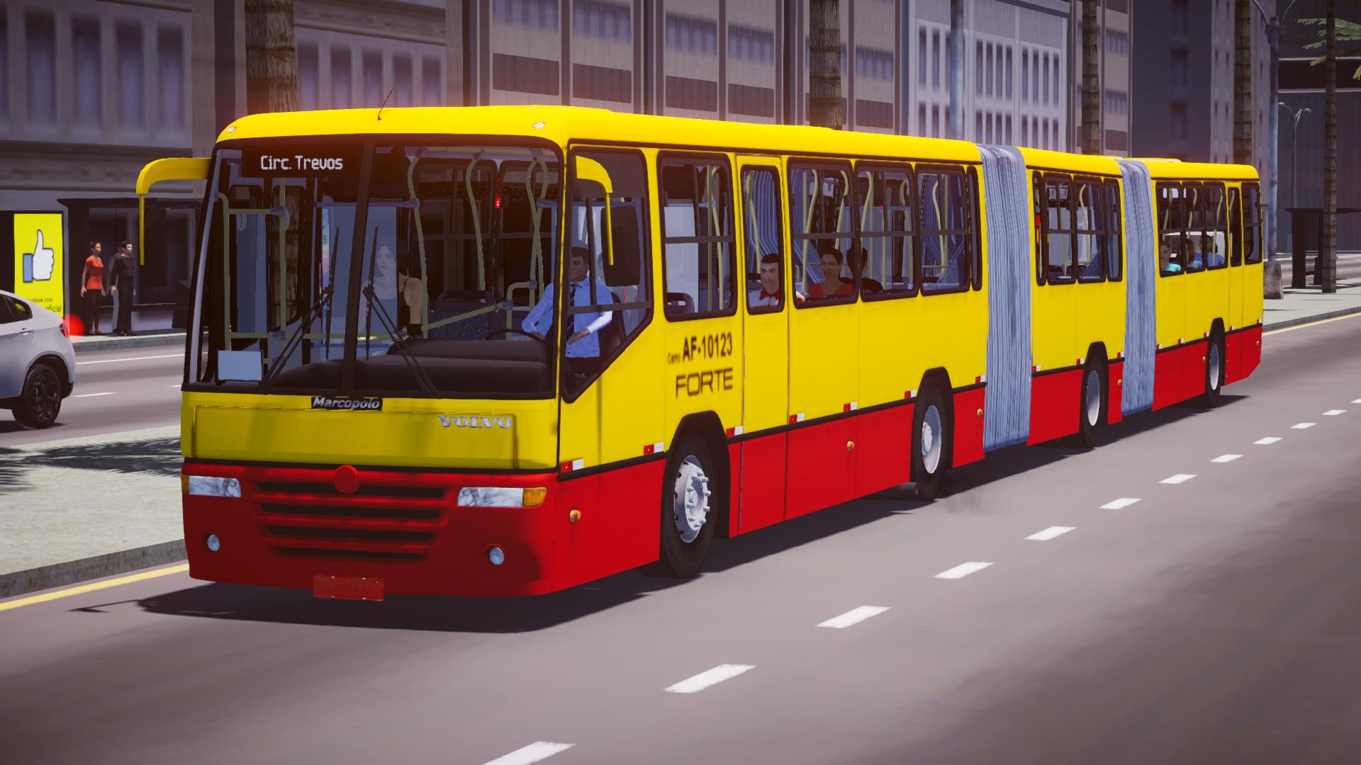 Marcopolo Torino S MB OF-1721L BlueTec 5 – Padrão RJ com 2 portas e AC para Proton Bus Simulator