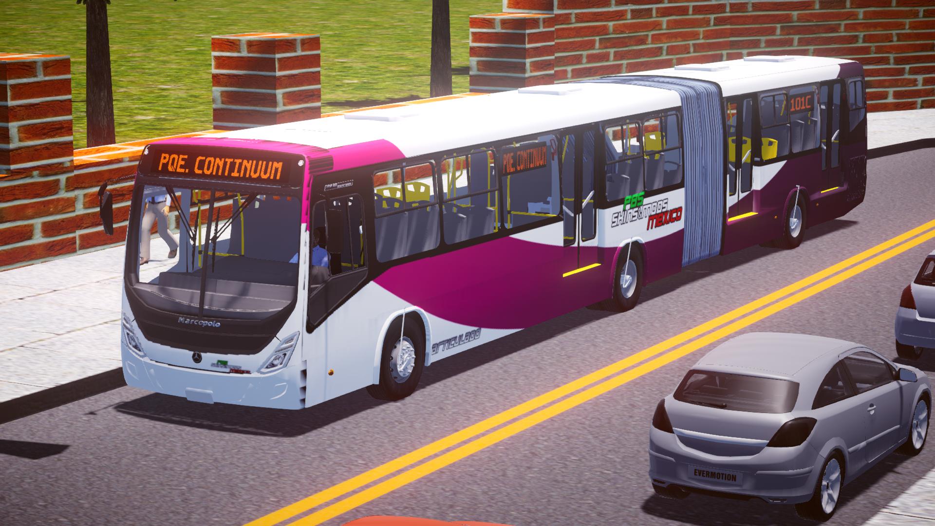 Marcopolo MP60 Express Articulado O-500MA BlueTec 5 (México) para Proton Bus Simulator