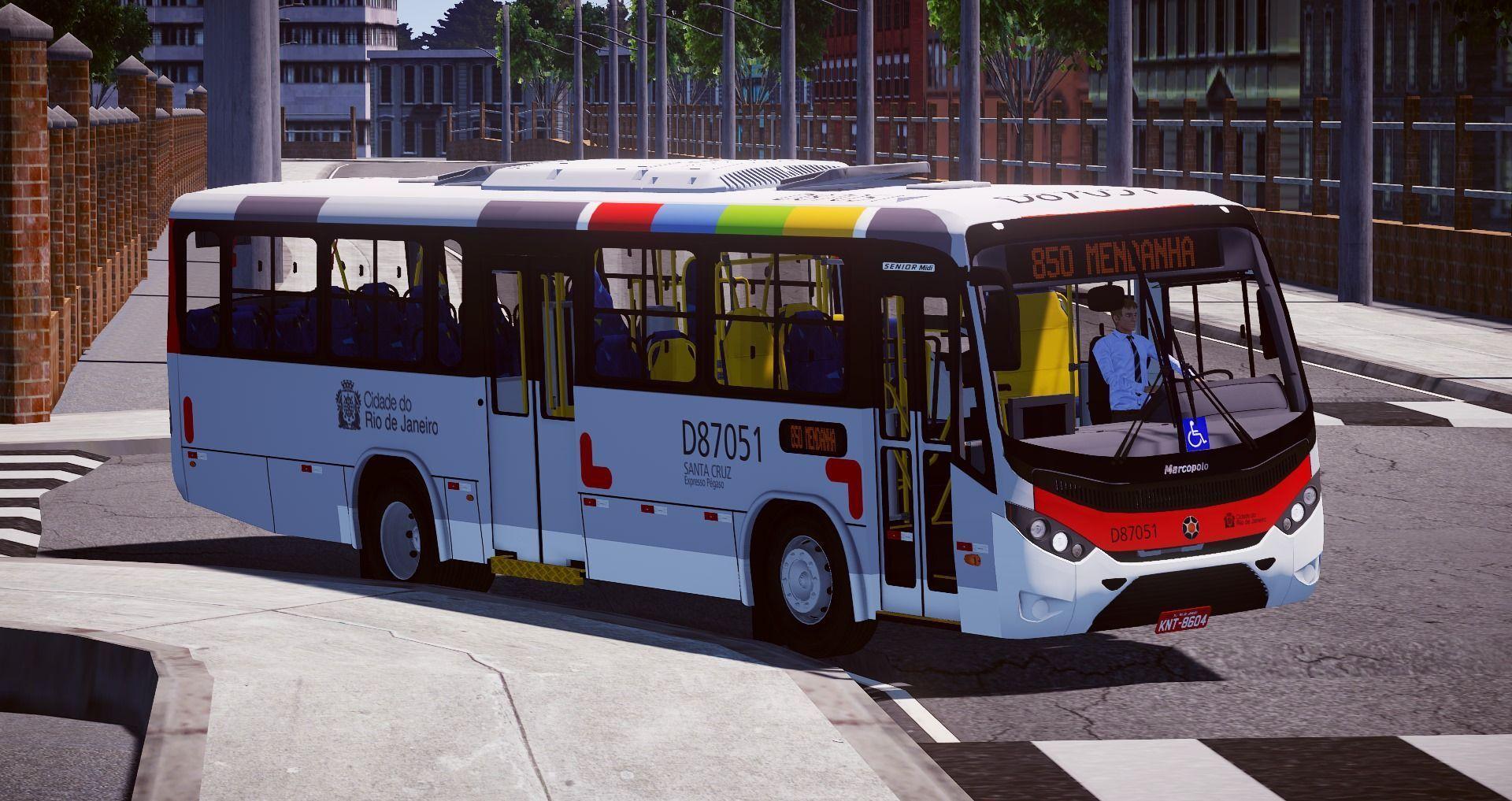Marcopolo Sênior Midi Mercedes-Benz OF 1418 Euro III – Padrão Rio de Janeiro para Proton Bus Simulator